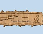 Rifle Wood Carving, Deer ...
