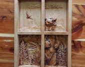 Grizzly Bear Wood Carving...