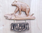 Bear Wood Carving Wood Wa...