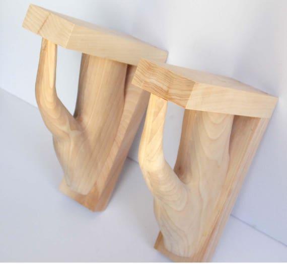 Wood Corbels Tree Trunk Corbels Wood Brackets Personalized Etsy