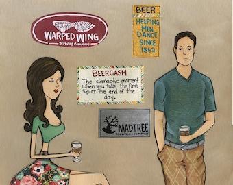 Beergasm, art print