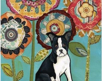 Boston Terrier, dog art print