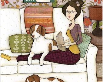 I Have Plans, Sorry, Brittany Spaniel dog print
