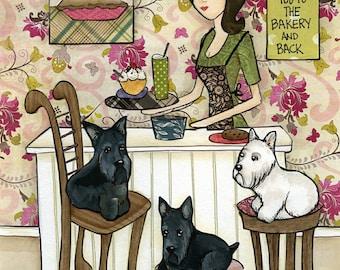 Scotties and Cherries, Scottish Terrier dog
