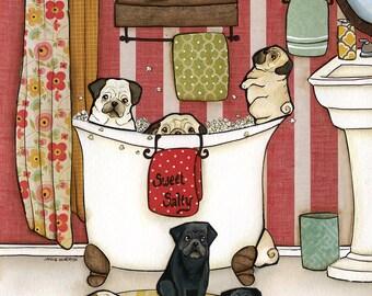 Pug Popcorn Bath