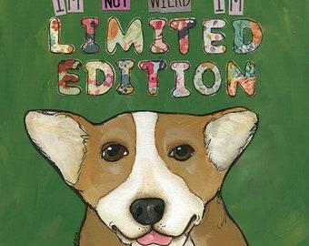 Limited Edition, Corgi dog art