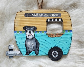 Schnauzer Blue Camper Ornament