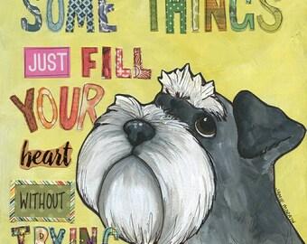 Fill Your Heart, Schnauzer dog art