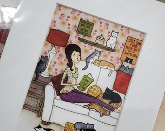 Crazy Cat Lady DISCOUNTED PRINTS