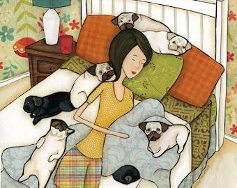 Snoring Pug