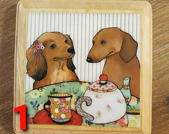 DOXIE PORTRAIT ornaments