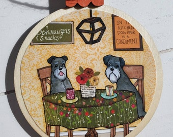Schnauzers and Snacks ornaments