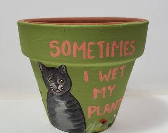 Green Wet My Plants pot