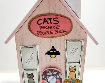 Wooden Cat House