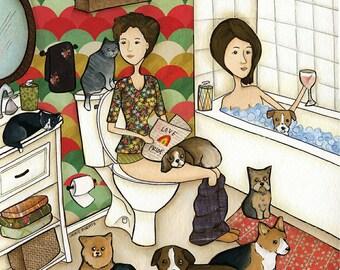 Love Pride, dog cat art print