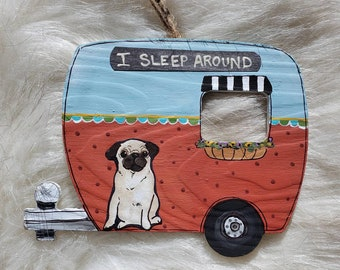 Pug Camper Ornament
