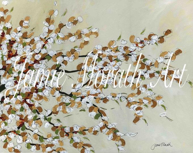 Warm Branches, tree wall art print