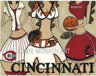 Cincinnati Sports, Cincinnati Reds, Bengals, bearcats, cheerleaders, basketball, football, baseball, cheer
