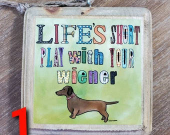 DOXIE QUOTE ornaments