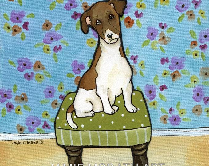 Buttons, Jack Russell  Terrier dog art print portrait