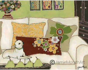 Chihuahua Love, chihuahua dog art print