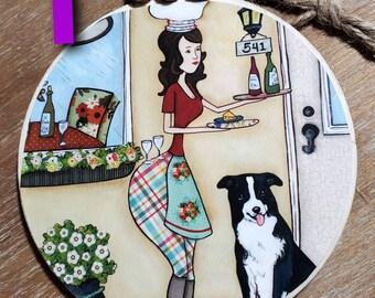 BORDER COLLIE, BERNESE mountain dog ornaments