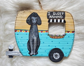 Poodle Camper Ornament