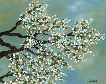 Cooling Breeze, tree branch flower art