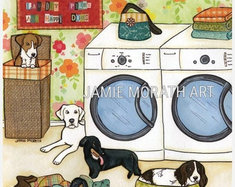 Happy Dogs, fostering, foster mom, dog foster, dog rescue, laundry room artHome decor, wash sign