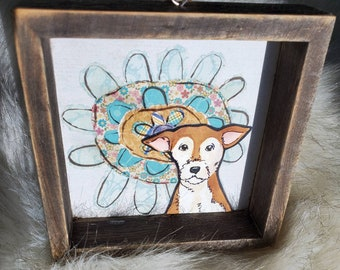 Jack Russell Flower ornament