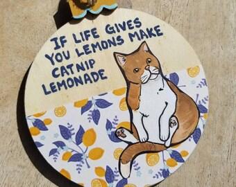 Lemonade Cat ornament
