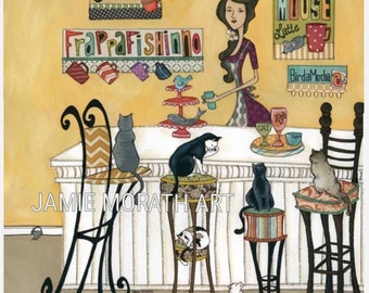 Espraysso  Catfe, Cat cafe, Coffee bar, Cats enjoying a snack, cats being served