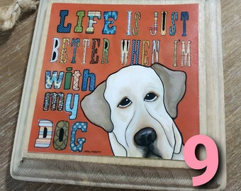 LABRADOR QUOTE ornaments