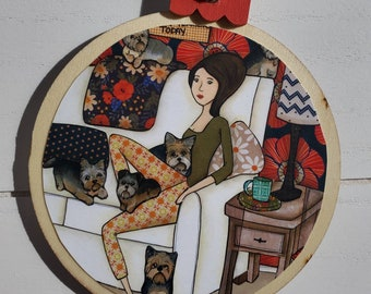 Yorkshit Terriers ornament