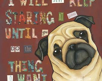 Staring At You, pug art