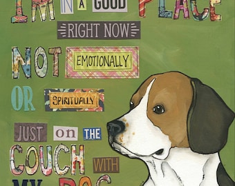 Good Place, Beagle dog art