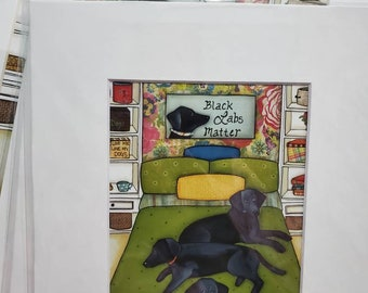 Black Labs Matter DISCOUNTED PRINTS