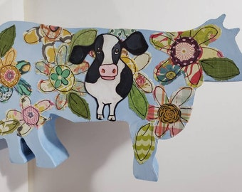 Cow Table Art