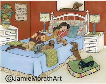 Sleeping With Her Wieners