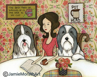 Pot Head, Bearded Collie dog