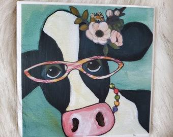 Marlene Cow coaster