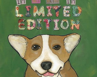 Limited Edition, Corgi dog art