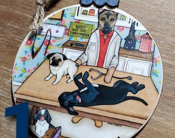 VET GROOM ornaments