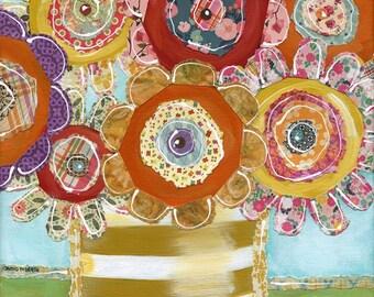 Gift Of Life, fall season flower mixed media art print