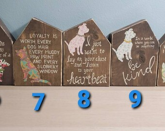 Wood Dog Houses with Quotes