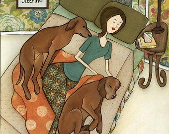 Just Keep Sleeping, art print