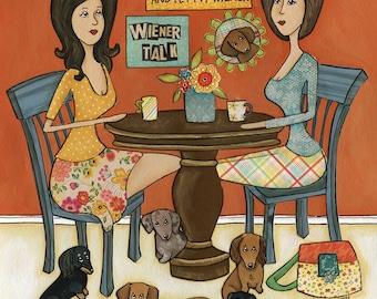 Weiner Talk, dog art print