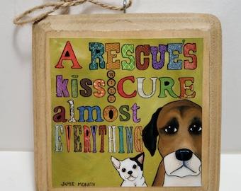 Rescues Kiss ornament