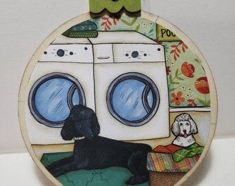 Poodle Laundry ornament