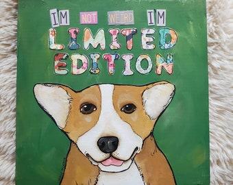Limited Edition, corgi painting